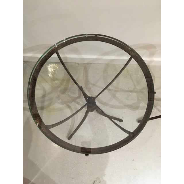 Early 20th Century 20th Century Shabby Chic Iron Accent Tables - a Pair For Sale - Image 5 of 10
