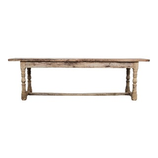 Late 19th Century Bleached Oak Dining Table For Sale