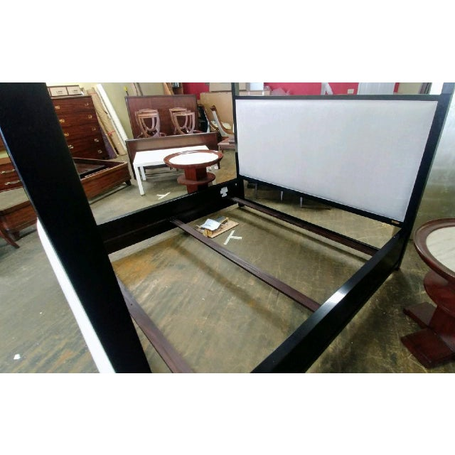Henredon Furniture Mark D. Sikes Pacific Palisades King Upholstered Canopy Bed For Sale In Charlotte - Image 6 of 13