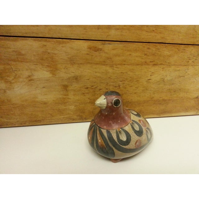 1960s Final Markdown! Vintage Tonala Pottery Bird Figurine For Sale - Image 5 of 6