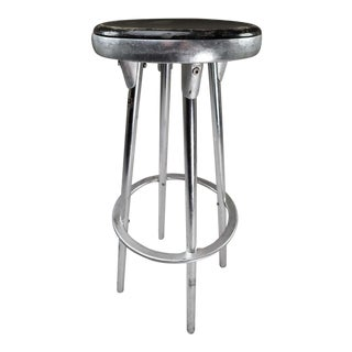 Indecasa Black Seat Industrial Bar Stool For Sale