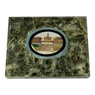 19th Century Roman Architectural Micro Mosaic Paper Weight For Sale