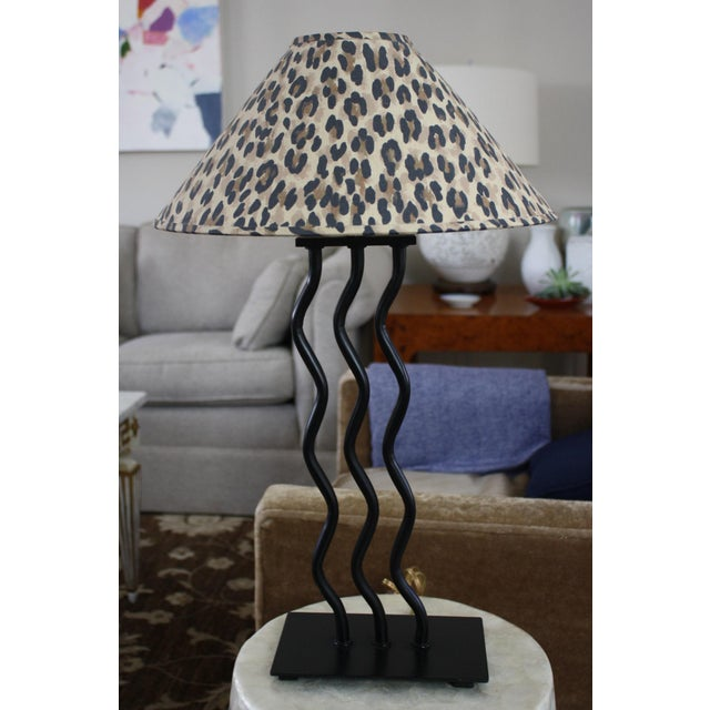 1980s Wave Memphis Style Table Lamp For Sale - Image 10 of 12