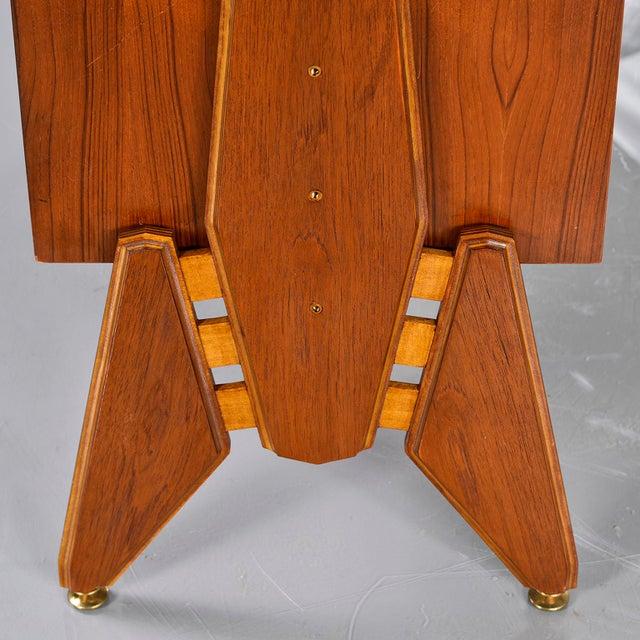 Pair Mid Century Italian Adjustable Height Teak Side Cabinets For Sale - Image 11 of 13