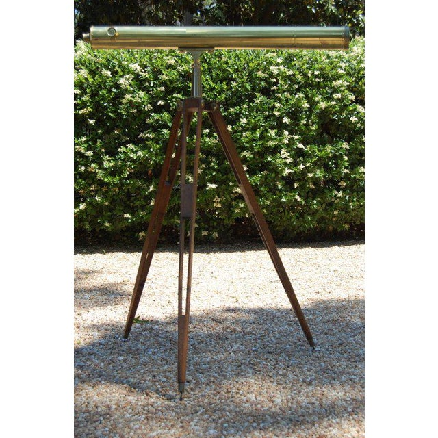 Traditional English Refracting Telescope For Sale - Image 3 of 9