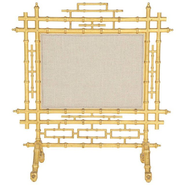 1970s Faux Bamboo Fireplace Screen For Sale - Image 11 of 11