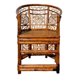 Mid 20th Century Bamboo Brighton Pavilion Style Chinoiserie Chair For Sale