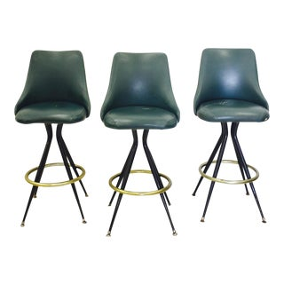 Vintage Mid-Century Modern Bar Stools - Set of 3