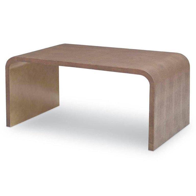 Julian Chichester Rene Leather Shagreen Coffee Table Chairish