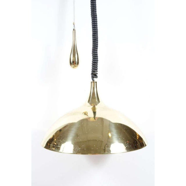 Finlandia Brass Counter-Weight Pendant after Paavo Tynell for Litecraft Mfg Corp For Sale In New York - Image 6 of 9