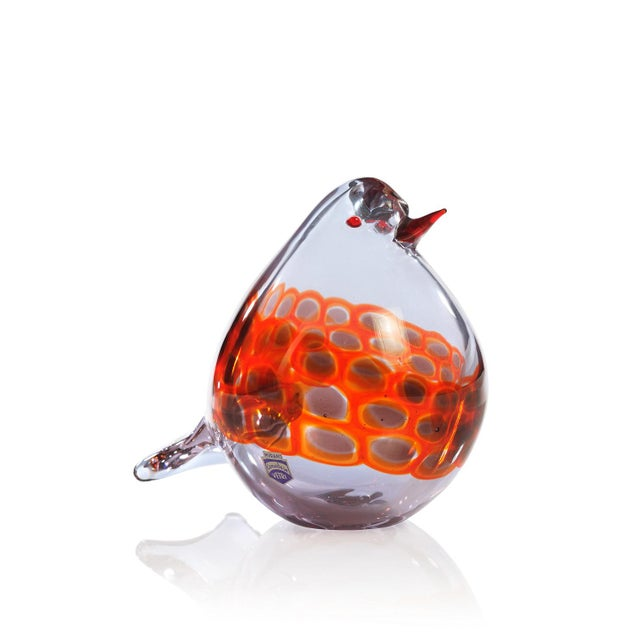 Offered for sale is a wonderful and rare Murano glass pigeon designed in 1970s by Antonio Da Ros, who was artistic...