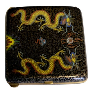 19th Century Chinese Bronze Cloisonne Enamel Cigarette Case