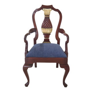 Kindel Varney & Sons Mahogany Pineapple Back Armchair For Sale