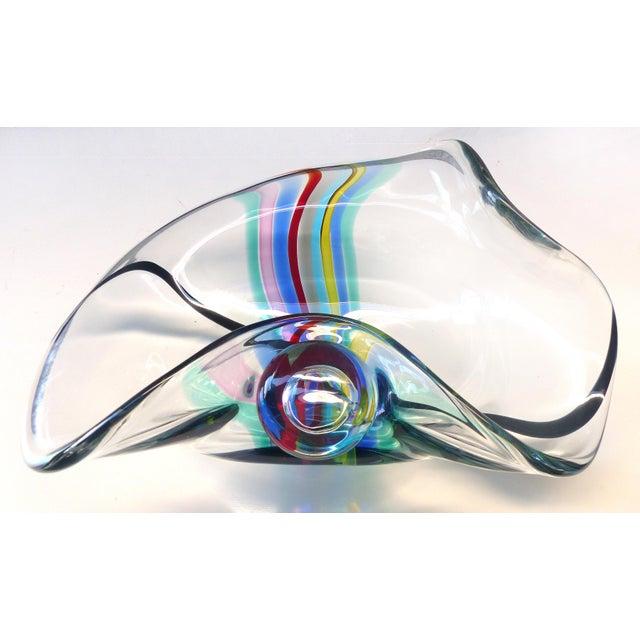 1970s Seguso Murano Centerpiece Bowl Signed Seguso a.v. For Oggetti, Italy For Sale - Image 9 of 9