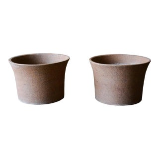 Marilyn Kay Austin for Architectural Pottery Unglazed Vessels, Pair, Circa 1970 For Sale