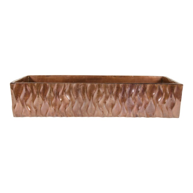 Ola Design Planter with Removable Liner by Robert Kuo, Hand Repoussé, Limited Edition For Sale