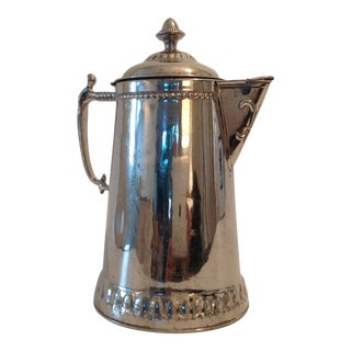 Antique Metal Pitcher by Rochester Stamping Works For Sale