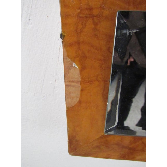 Brown Vintage Modern Burlwood Mirror in the Style of Milo Baughman For Sale - Image 8 of 11