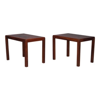 Pair of Danish Modern Rosewood Side Tables For Sale