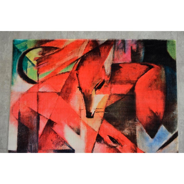 """Franz Marc """"Foxes"""" Inspired Area Rug - 4′10″ x 5′9″ For Sale In New York - Image 6 of 10"""