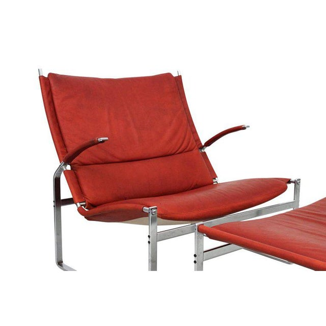 Brown Preben Fabricius and Jorgen Kastholm Lounge Chair and Ottoman For Sale - Image 8 of 11