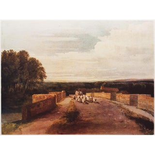 1959 David Cox, Large Landscape Hungarian Lithograph For Sale