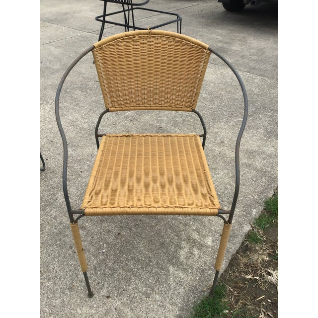 Brown Maurizio Tempestini by Salterini Patio Table Chairs Dining Patio Last Call For Sale - Image 8 of 13