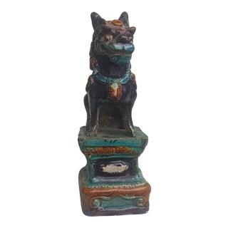 Antique Fu Lion Porcelain Figure For Sale
