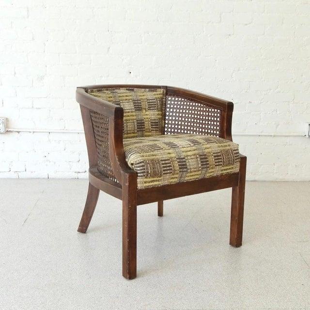 Mid-Century Modern Vintage Boho Barrel Lounge Chair For Sale - Image 3 of 6