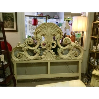 French Provincial Wood Headboard For Sale