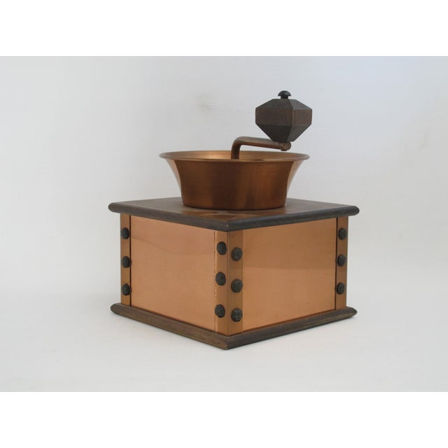 Copper and Walnut Coffee Grinder - Image 3 of 7