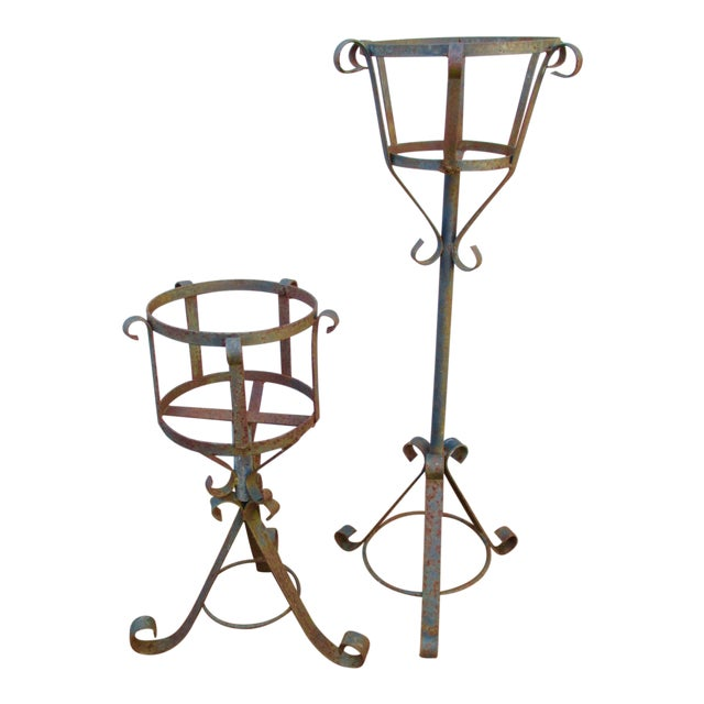 French Mediterranean Iron Planters - A Pair - Image 1 of 9