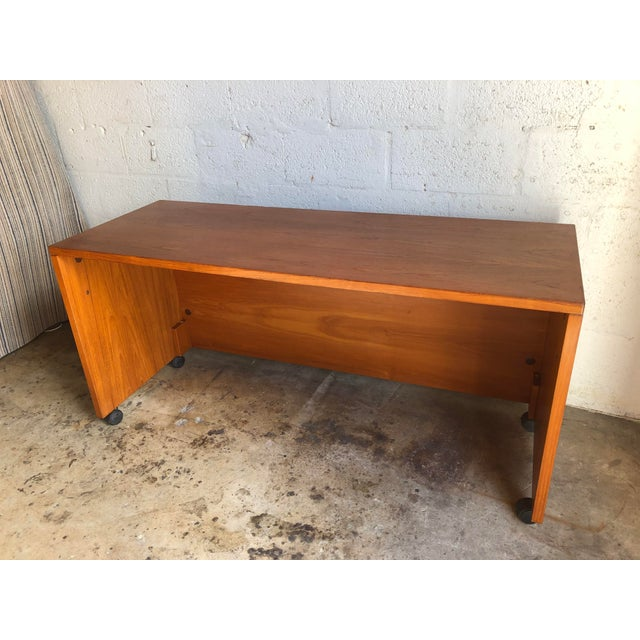 Vintage Mid Century Danish Modern Three-Sided Shell Desk by Jesper International. Perfect for a small area or a Home...