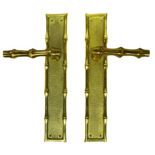 Maison Baguès Bronze Door Handles - a Pair For Sale