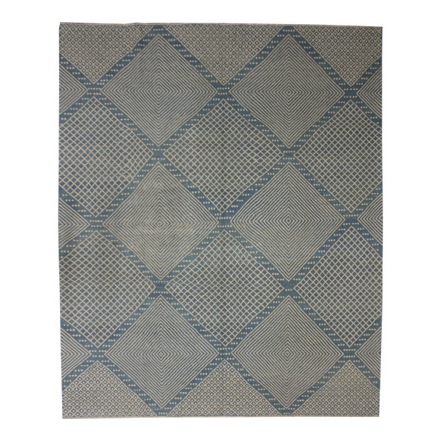 """Aara Rugs Inc. Hand Knotted Modern Kilim - 9'5"""" X 8'4"""" For Sale"""