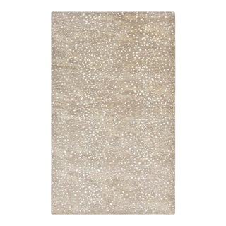 Arash, Contemporary Modern Hand-Knotted Area Rug, Beige, 8 X 10 For Sale