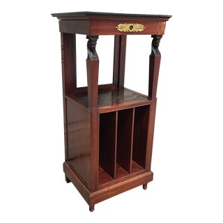 19th Century French Empire Mahogany Shaving Stand For Sale