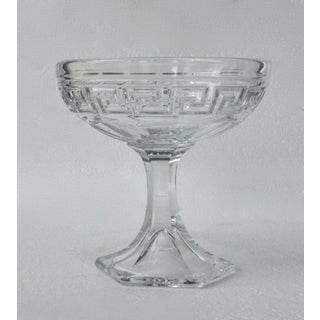 "Heisey Crystal Etched ""Greek Key"" Bon-Bon Dish Preview"