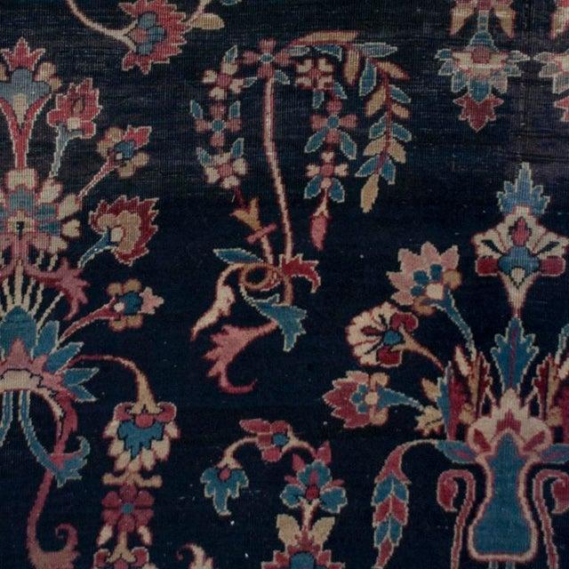 Mid 19th Century 19th Century Yadz Carpet - 8′7″ × 11′ For Sale - Image 5 of 6