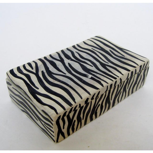African African Soapstone Lidded Box For Sale - Image 3 of 8