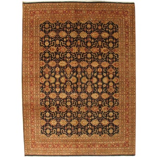 """Pasargad Ny Sultanabad Design Hand-Knotted Wool Rug - 9' X 12'2"""" For Sale"""