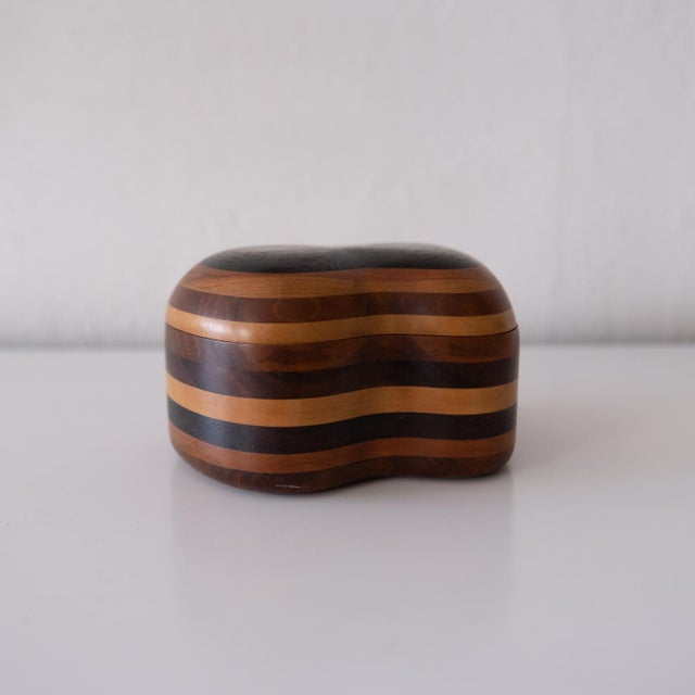 Handcrafted Wood Jewelry Box, 1960s For Sale - Image 4 of 8
