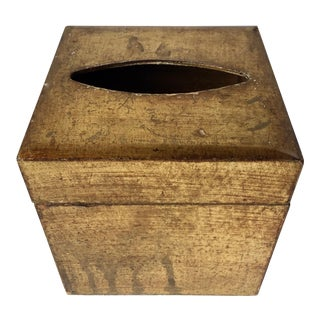 Florentine Italian Gilt Wood Tissue Box For Sale