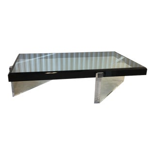 Lucite Glass Coffee Table For Sale