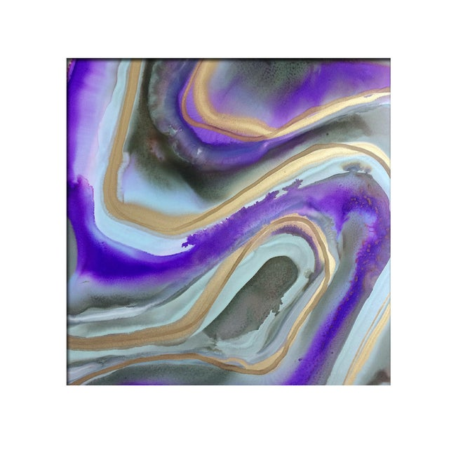 'AMETHYST' Original Abstract Painting by Linnea Heide For Sale - Image 5 of 5