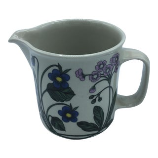 Arabia Finland Floral Motif Pitcher For Sale