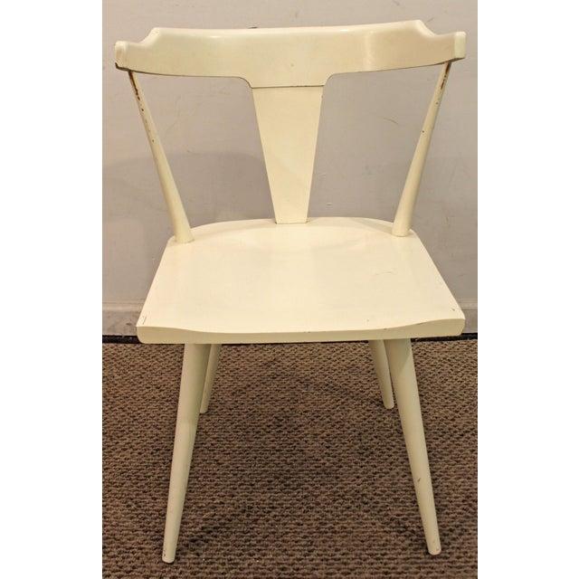 Danish Modern Mid-Century Danish Modern White Paul McCobb Planner Group Desk Side Chair For Sale - Image 3 of 11