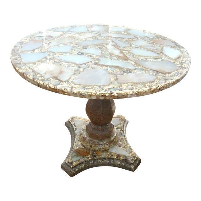 1970s Mexican Marble Side Table For Sale