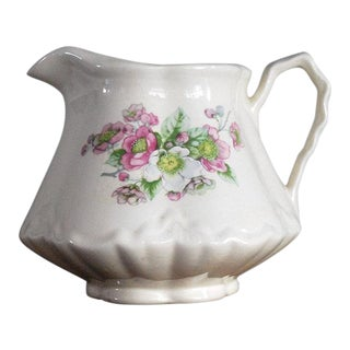 1950s Vintage Shabby Chic Floral Pitcher For Sale