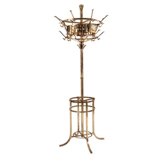 Aesthetic Movement Brass Hat Stand For Sale